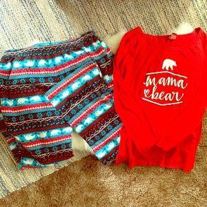 Other - Mama bear pajamas